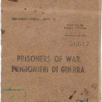 Libretto paga (Pay book) del prigioniero Enzo Fossa