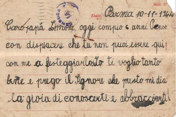 Un figlio scrive al padre prigioniero