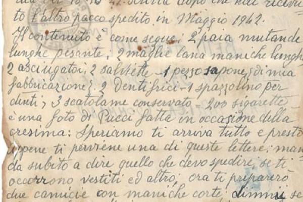 Una madre scrive al figlio prigioniero.